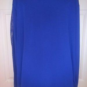 LB Active long sleeve blue jersey top